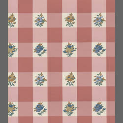 Traditional pink checkered floral: CP5134