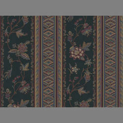 Traditional striped floral wallcovering: WA3153