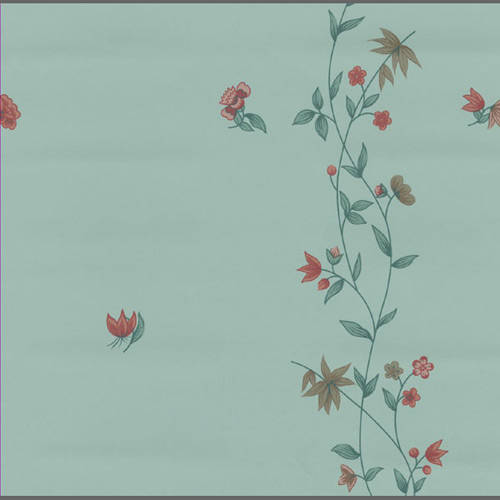 Traditional blue floral wallpaper: 538183