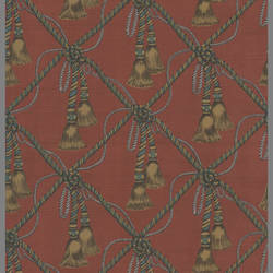 Traditional Williamsburg harlequin tassel wallpaper: P5R62420