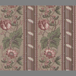 Traditional striped floral wallcovering: VL4173