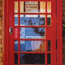Telephone Box Door Mural