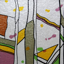 Geometric Textured Transluscent Window Film