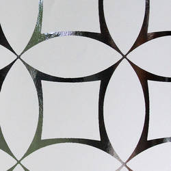 Criss Cross - White on Silver Mylar