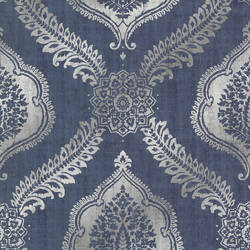Zoraya Navy Damask 2618-21302
