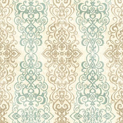 Mexuar Aqua Filigree Stripe 2618-21346