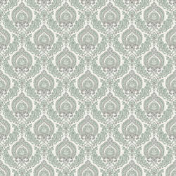 Lulu Dark Green Damask 2657-22229