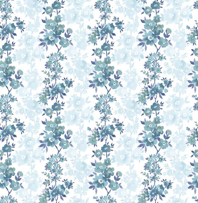 Charlise Blue Floral Stripe 2657-22252