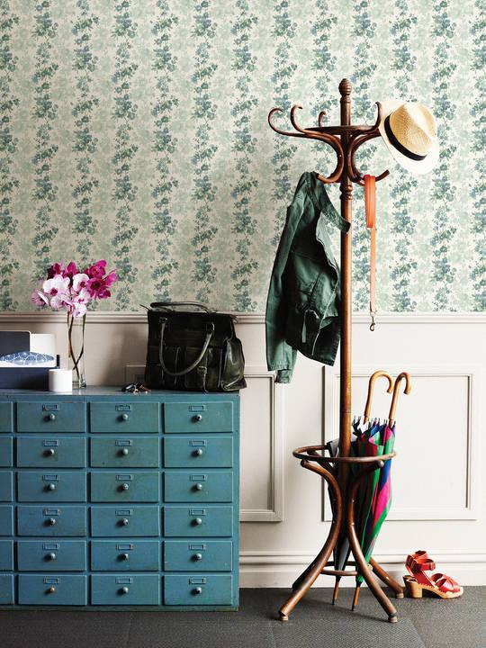 Charlise Teal Floral Stripe 2657-22253