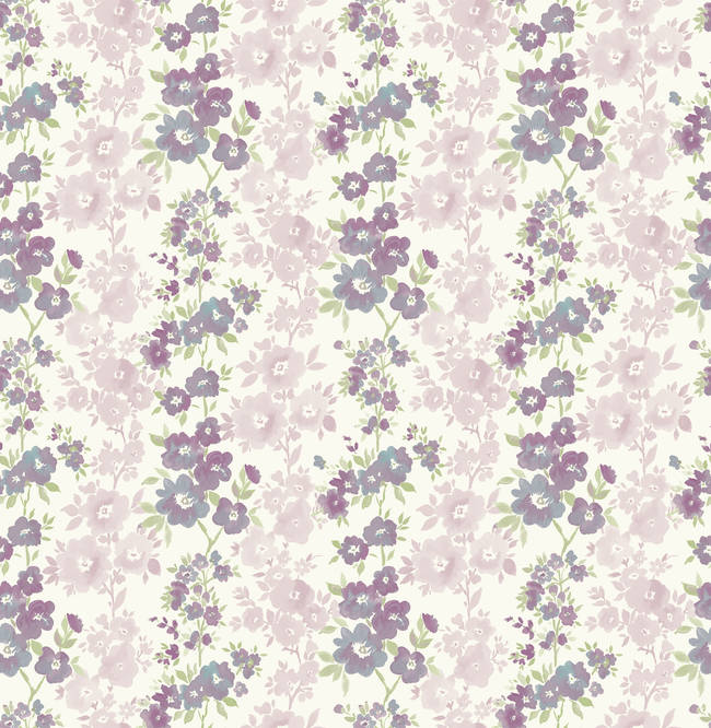 Charlise Plum Floral Stripe 2657-22255