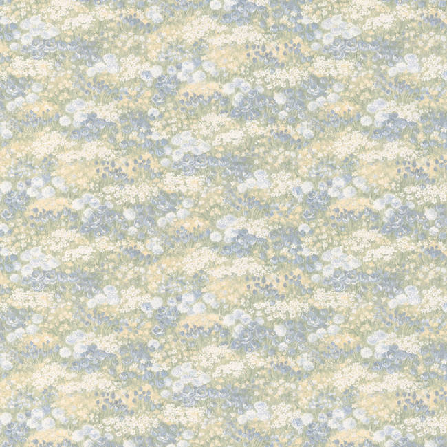 Esther blue Floral Motif 413-41322