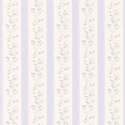 Emma Purple Floral Stripe 413-66314