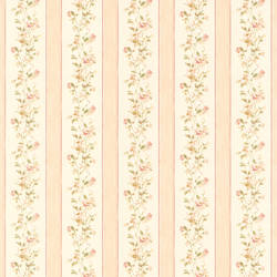 Emma peach Floral Stripe 413-66316