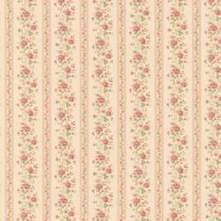 Laura beige Floral Stripe 413-66344