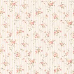 Laurie peach Floral Stripe 413-66374