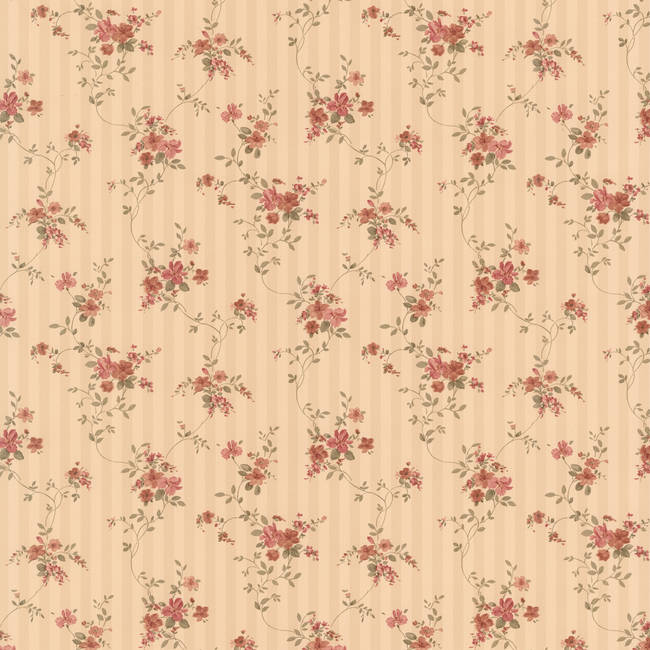 Laurie beige Floral Stripe 413-66375