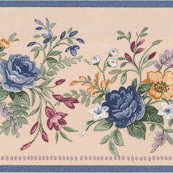 Louisa blue Floral Bouquet Border 413B02953