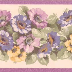 Maryanne purple Floral Garden Border 413B0530