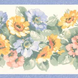 Maryanne periwinkle Floral Garden Border 413B0529