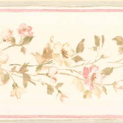 Lilah blush Floral Border 413B05567