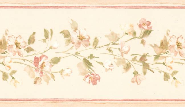 Lilah beige Floral Border 413B05568