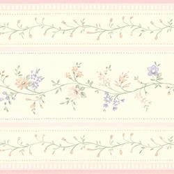 Lynn light pink Floral Stripe Border 413B05570