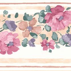 Gloria Beige Floral Border 413B05866