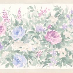 Caroline Green Floral Garden Border 413B1375