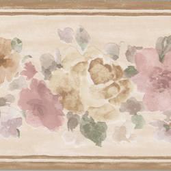 Sylvie Brown Floral Border 413B50182