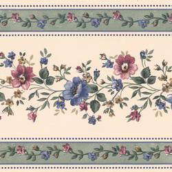 Linda Sage Floral Stripe Border 413B05574