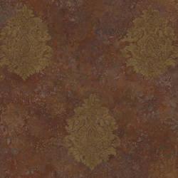 Orange Baroque Damask ART25106