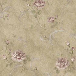 Gracie Sage Floral Scroll Wallpaper