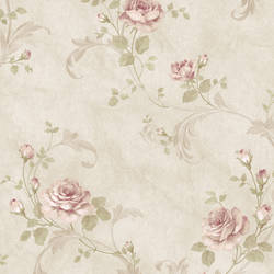 Gracie Stone Floral Scroll Wallpaper