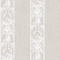 Elsa Taupe Alternating Damask Stripe Wallpaper