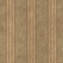 Giovanni Brown Tuscan Alternating Stripe Wallpaper