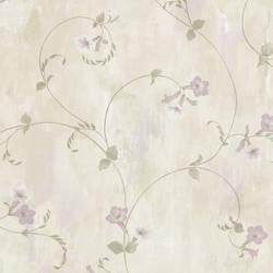 Shiva Silver Trumpet Floral Vine Wallpaper
