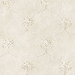 Tuscan Grey Shimmering Ogee Wallpaper