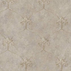Tuscan Bronze Shimmering Ogee Wallpaper