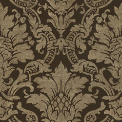 Cynthia Black Distressed Damask Wallpaper AL13654