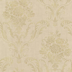 Manor Gold Floral Damask 2665-21446