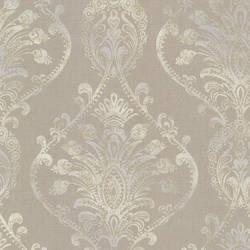 Noble Taupe Ornate Damask 2665-21458