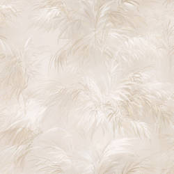 Kaley Cream Satin Leaves 2532-17656