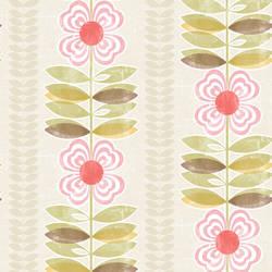 Avril Pink Modern Floral Stripe 2532-20671