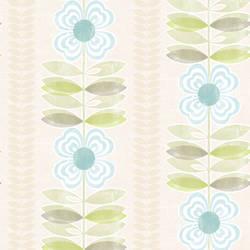 Avril Blue Modern Floral Stripe 2532-20673