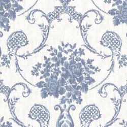 Marais Blue Ikat Damask 2614-21025