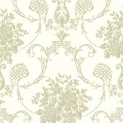 Marais Green Ikat Damask 2614-21026