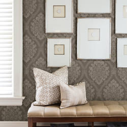 Amarissa Chocolate Jacquard Damask 2614-21040