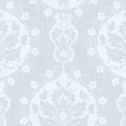Lourdes Light Blue Damask Medallion 2614-21055