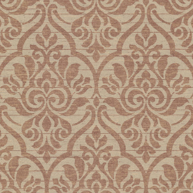 Malia Burgundy Heirloom Damask 2614-21063