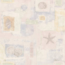 Evie Light Pink Seashell Mosaic 2532-37349